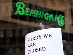 Bennigan's, which cut marketing spending by 75% last year, has filed for bankruptcy.
