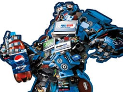 The Pepsi Gift Monster is taking to the streets.