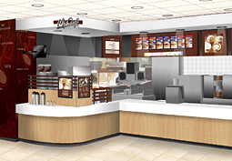 McDonald's design prototype for the coffee bars it's testing; consumers can watch their drinks being prepared.