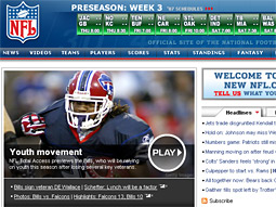 'Treasure trove': NFL.com features player video and an exhaustive stat database.