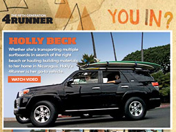 CAN'T BEAR IT: The photographer was surprised to see his shot on Toyota's site.