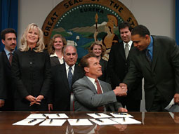Murray: Still glad-handing for green causes, just not in the California Senate.