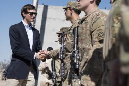 Jared Kushner, Senior Advisor to President Trump, meets Soldiers at a forward operating base in Iraq, April 4, 2017.