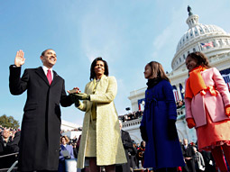 Clothes call: J. Crew outfitted the Obama daughters in custom coats. Its website crashed when the news became public.
