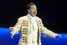 Jimmy Fallon performs during NBC's upfront presentation to advertisers in May
