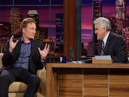 Passing the torch: Starting June 1, Conan O'Brien will be in Jay Leno's seat on 'The Tonight Show.'