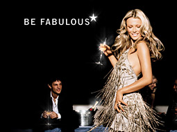 Moet's 'Be Fabulous' campaign, from Kirshenbaum, Bond & Partners, features attractive party-goers drinking champagne.