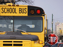 It is illegal to advertise on the outside of school buses in Michigan. Any ads must be placed inside.