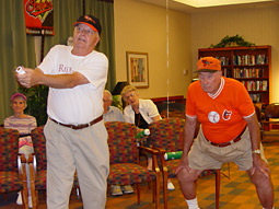 Residents at Maryland's Riderwood retirement community held a Wii baseball tournament.