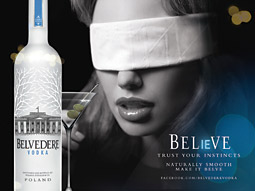 DON'T LOOK NOW: But Belvedere is trying to get drinkers to order it by its made-up for-short moniker, 'Belve.'