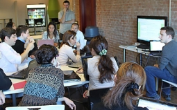 Managers from around the world get trained at Groupon's Chicago headquarters.