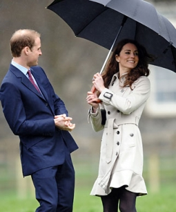 Prince William and Kate Middleton will be showered with attention.