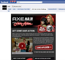 Axe's most recent campaign website has amassed more fans than the product's Facebook page.
