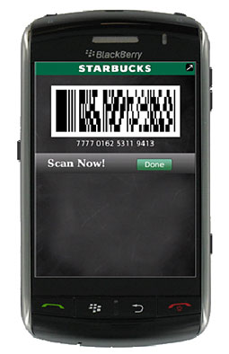 Could phone wallets, like the one Starbucks pioneered, one day compete with Visa and Mastercard?