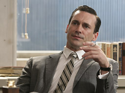 High hopes: Producers, financiers and the creator of 'Mad Men' hope the AMC show will eventually go commercial free. Pictured: JonHamm as plays Don Draper.