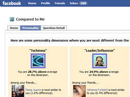 The Compared to Me Facebook app could hold potential for marketers.