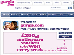 Gurgle: The new site has advertisers such as P&G, Unilever and Jeep lined up.