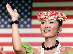 Obama, Japan: Residents danced the hula to celebrate U.S. election.