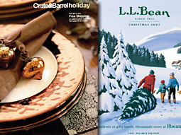 L.L. Bean and Crate & Barrel's holiday catalogs