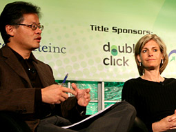 Yahoo's Jerry Yang and Sue Decker