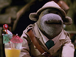 Character created by Mother for ITV Digital shills for PG Tips.