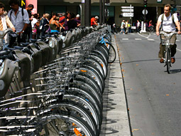 Decaux's bike rental program has been a success in Paris, where recently 138,000 bikes were checked out in a single day.