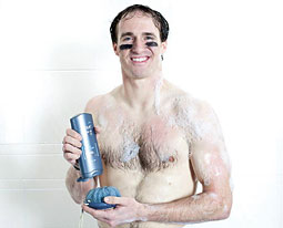 WINNING STRATEGY: Unilever began airing Drew Brees' Dove Men Plus Care 'victory shower' spot hours after the MVP helped his team win the Super Bowl.