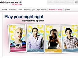 DRINKAWARE: Alcohol companies support British organization for safe drinking.