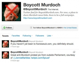 The Boycott Murdoch feed on Twitter