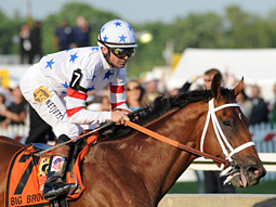 Triple Crown winner Big Brown just happened to be named after the shipping company.