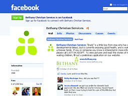 BETHANY: Nation's largest adoption agency used Facebook to place children faster.