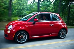 The Fiat 500 starts at $15,500.