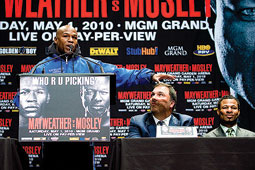 BIG WINNER: Mayweather's fight with 'Sugar' Shane Mosley was the second-highest grossing pay-per-view fight in boxing history.
