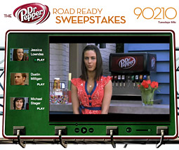 Recent appearances of Dr Pepper on '90210' were meant to spark interest in a contest in which fans can win a trip to the show's set.