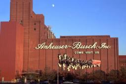 The AB InBev Anheuser-Busch Budweiser Brewery in Saint Louis.