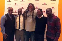 Jimmy Smith, center, at Advertising Week 2016.