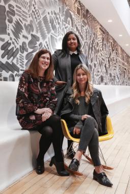 L-R Allison Barnes, Iman Forde and Kristin Busk