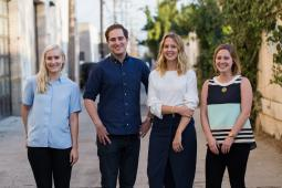 From left, Amy Marek, Spencer Somers, Ashley Jones, and Sara Karnowski