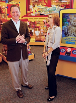 Dave Finnegan and Teresa Kroll, CIO and CMO, respectively, at Build-A-Bear.