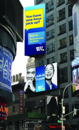 Best Buy debuts new out-of-home ads.