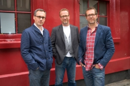 (l to r) Matthew Charlton, Neil Dawson and Remi Babinet