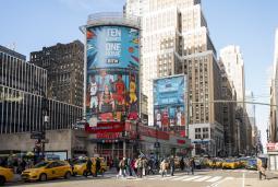 A billboard in New York City for BTN's Big Ten Men's Basketball Tournament.