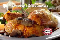 A recent ad for Boston Market's Rotisserie Chicken Marsala.