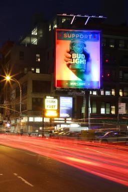 Bud Light NYC Billboard