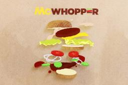 Work from Burger King's McWhopper campaign.