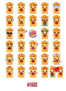 Burger King Chicken Fries emojis