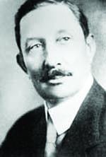 Pepsi inventor Caleb Bradham, c. 1900