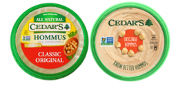 Cedar's Hommus packaging – before (left) and after
