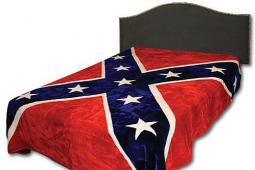 A Confederate flag blanket being sold on Amazon