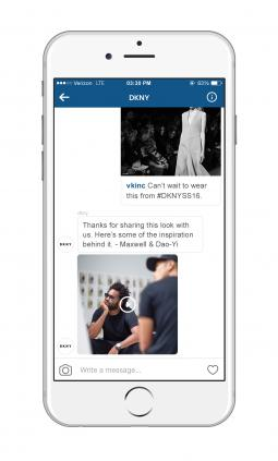 DKNY Instagram Direct campaign